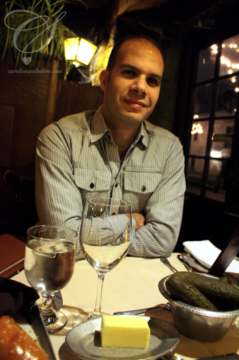 Salem at his birthday dinner. Boy do I have a handsome husband!