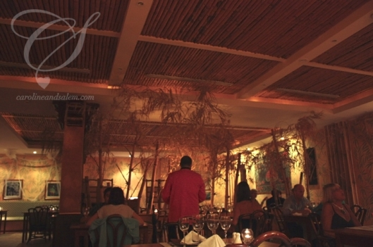 Bamboo had a nice atmosphere and decor. It was actually quite nice. The walls were all a bamboo tapestry.