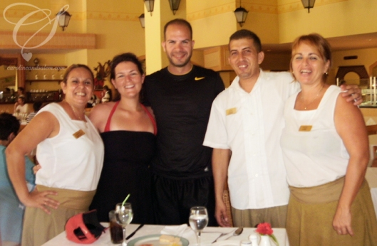 Our morning and lunch Buffet buddies. Unfortunately, one lady is missing! This was actually taken on our last day.