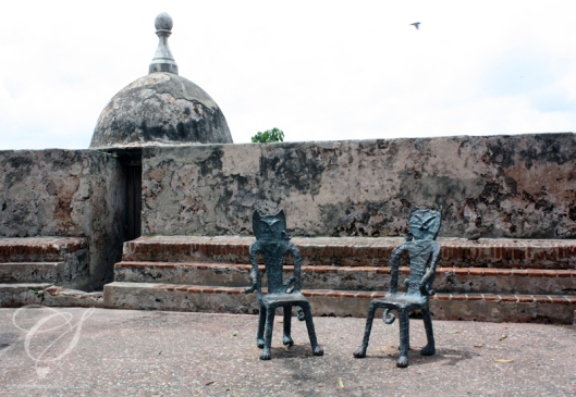 Old San Juan and its artistic touches. Le vieux San Juan rajoute ses touches artistiques.