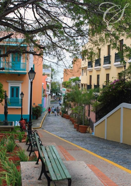 Lovely, colourful buildings. De jolis édifices de toutes couleurs.
