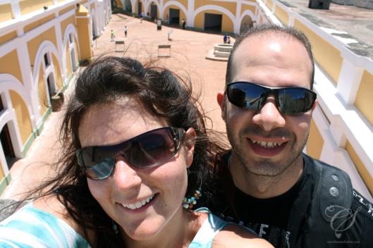 A look into the center of El Morro. On voit le centre d'El Morro ici.