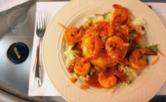 Caro's shrimp mofongo. Le mofongo aux crevettes de Caro.