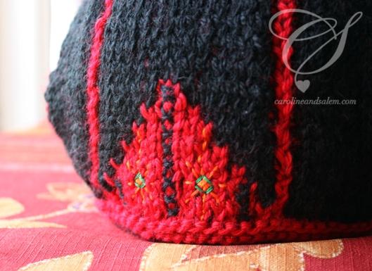 Front skirt embroidery - Broderie sur le devant de la jupe